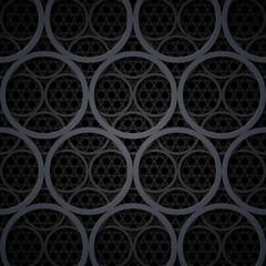 Abstract dark grey metal circles vector background