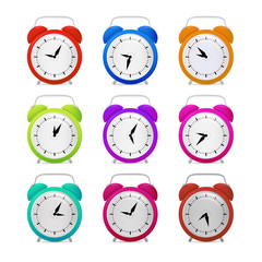 Colorful Alarm Clock Set