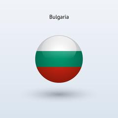 Bulgaria round flag. Vector illustration.