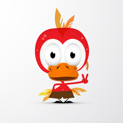Funny Red Bird Icon