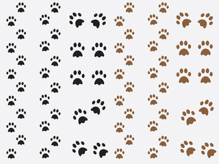 Black and brown dog prints illustration