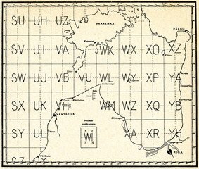 Map of weather conditions (ca. 1930, Baltic Sea)