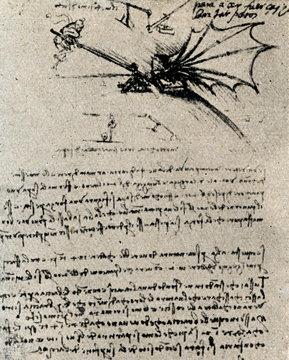 Flying device by Leonardo da Vinci
