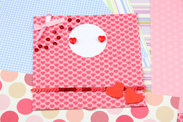Beautiful hand made post card and papers for scrapbooking