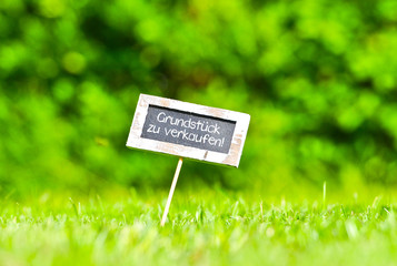 Fototapete - Grundstück zu verkaufen