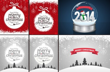 Christmas Backgrounds and Snow Globe