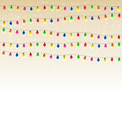 Christmas garland with snow