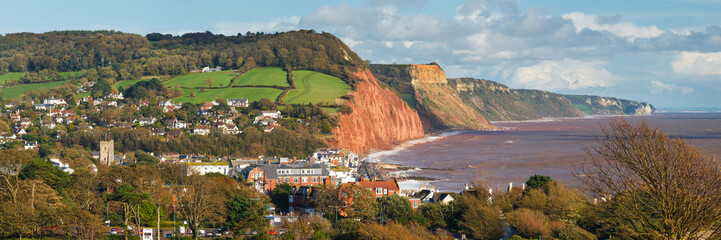 Wall Mural - Overlooking Sidmouth Devon England