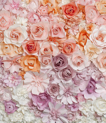 Paper roses background.