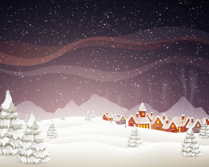 Vector Illustration of a Christmas Background