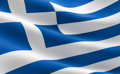 Greek flag - Hellenic Republic