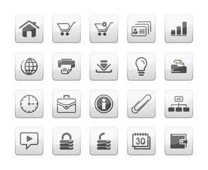 Web and business icon set vector
