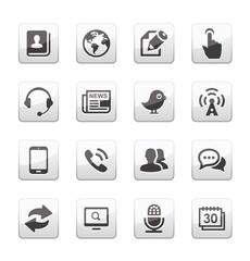 Media and communication icon set
