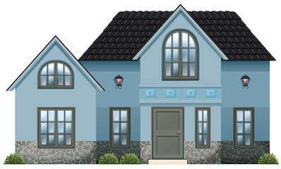 A big blue house