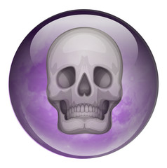 A ball with a skull