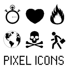Pixel icon set. EPS 8
