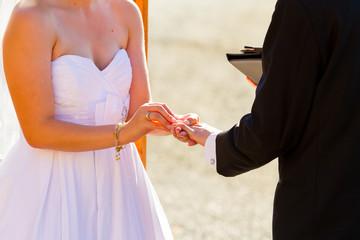 Bride Groom Ring Exchange