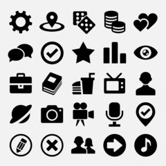 Social net icons set