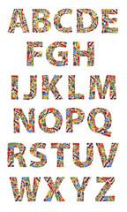 Wooden toys alphabet