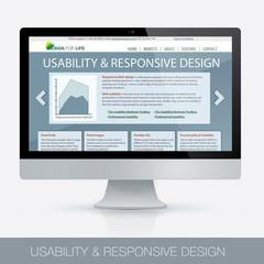 Computer vector, responsive design