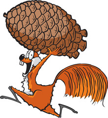 Squirrel with Pinecone