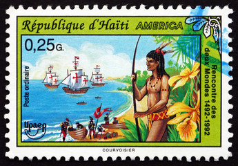 Postage stamp Haiti 1993 Discovery of America