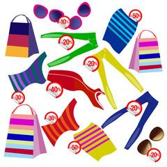 сезонная распродажа одежды