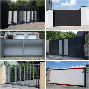 collection of metal, modern gate