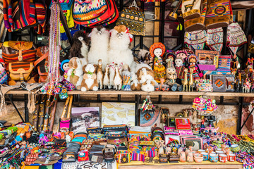 peruvian traditional handcraft souvenirs Andes  Cuzco Peru