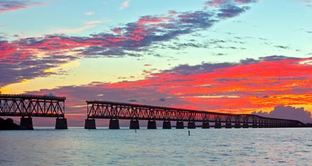 Colorful landscape of a beautiful tropical sunset  or sunrise