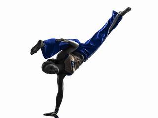 woman capoiera dancer dancing silhouette