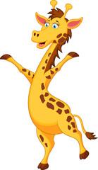 Giraffe cartoon standing