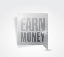 earn money message pointer illustration design