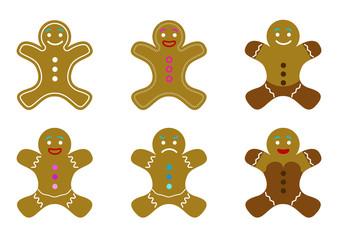 6 biscuits - bonhommes de pain d'épices