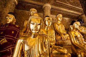 Golden buddha, Shwedagon