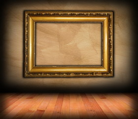 vintage victorian frame on wall