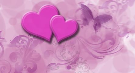Fototapeta serce pink obraz