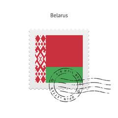 Belarus Flag Postage Stamp.