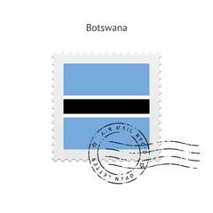 Botswana Flag Postage Stamp.