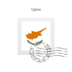 Cyprus Flag Postage Stamp.