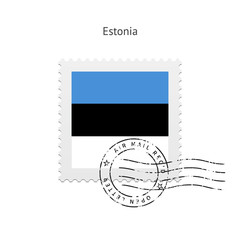 Estonia Flag Postage Stamp.