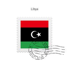 Libya Flag Postage Stamp.