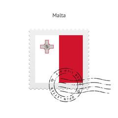 Malta Flag Postage Stamp.
