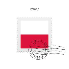 Poland Flag Postage Stamp.