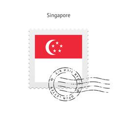 Singapore Flag Postage Stamp.