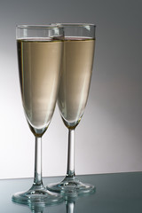 Two glass of champagne