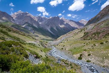 Wall Mural - Rapid Djuku river in Kyrgyzstan