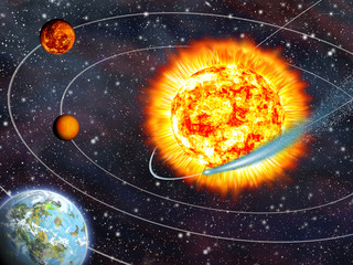 Wall Mural - Comet Ison is passing close to the Sun