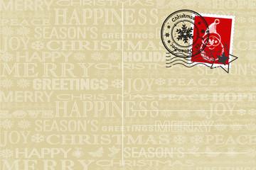 Postkarte für den Weihnachtsmann