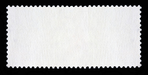 Blank long rectangular postage stamp